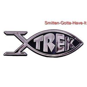 Star Trek TOS Roddenberry Enterprise Fish Car Emblem Evolution Future Great Gift