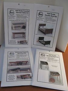Half inch Scale Daisy House Dollhouse Furniture Kit Assortment