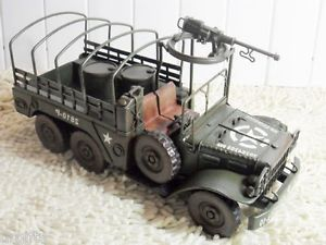 Vintage Hand Made Metal Art Bar Decor Car Model 1 16 WWII Dodge Willy Jeep Truck