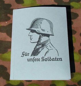 Reproduction German WWII Soldaten Soldier's Calender Wallet Writing Tablet