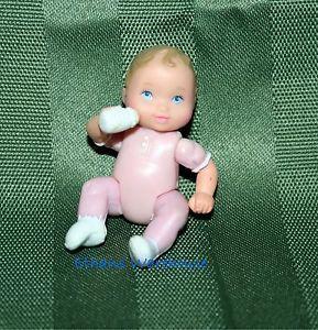 Fisher Price Loving Family Dollhouse Baby Girl Doll Sister Pink w Bottle VHTF