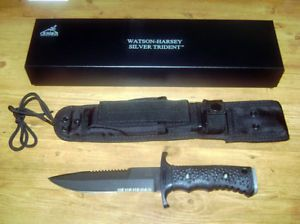 Gerber New Silver Trident Fixed Blade Knife Black 6995