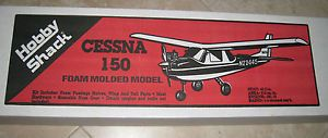 New Vintage Cessna 150 Airplane R C Kit by Hobby Shack RC Foam Molded