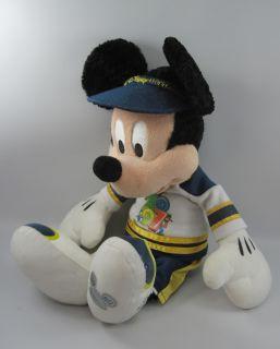 "2007 Mickey Mouse Walt Disney World Large Plush Stuffed Animal 17"""