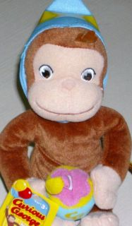 Curious George Monkey Happy Birthday Chimp Bean Bag PAL