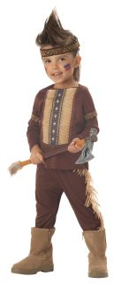 Boys Lil' Indian Warrior Ages 3 4 5 6 Fancy Dress Kids Western Halloween Costume