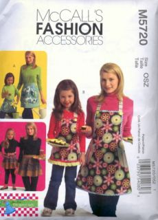 M5720 McCalls Pattern Misses Girls Aprons 3 Styles Mother Daughter Free US SHIP