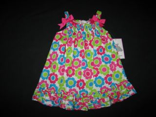 "New ""Bright Crazy Daisy"" Dress Girls Clothes 12M Spring Summer Easter Baby 1 PC"