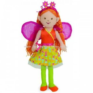 Manhattan Toy Beneath The Leaf Doll Liliana Soft Toy Childrens Fairy Dolls Toy