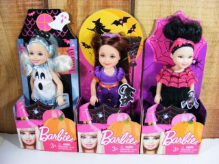 3 Barbie Kelly 2012 Halloween Dolls Chelsea Costume Set