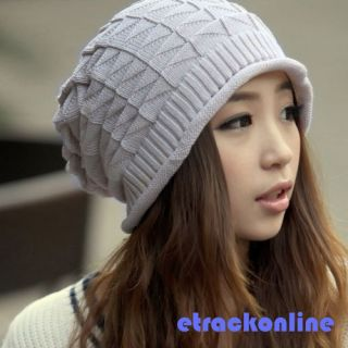 Girls Knitted Braided Beanie Cap Women Fashion Baggy Beret Winter Hat Gorro Hot