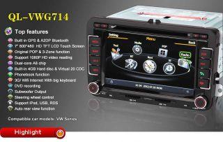 Autoradio DVD GPS Navi for VW Touareg VW Jetta New Polo VW Series with 3 Zone
