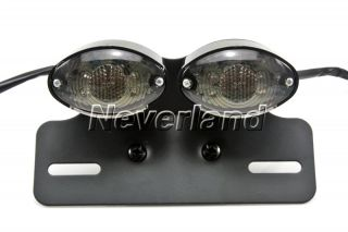 Motorcycle LED Lamp Turn Signal Brake License Plate Cateye Tail Light for Harley