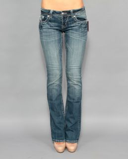 New Womens Miss Me JP5124B11 Daisy Duke Boot Cut Embellished Jeans 30