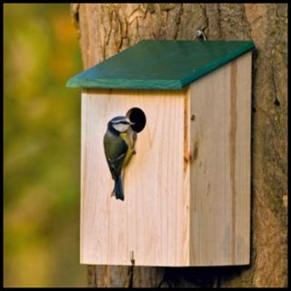 Traditional Wooden Bird Nesting Nest Box Bird House