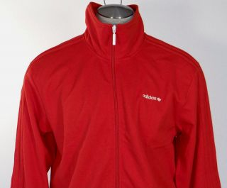Adidas Originals Signature BECKENBAUER Red Track Jacket Mens