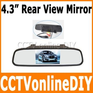 """4 3"""" Car Rear View Mirror Monitor Auto Power on Off 2CH Video Input"""