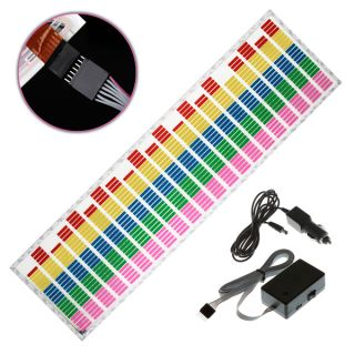 Car Sticker Music Rhythm LED Flash Light Lamp Sound Activated Equalizer 5 Size