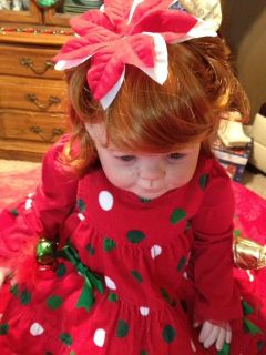 "Reborn Baby Girl ""Irish Noel"" Christmas Baby by Donna RuBert w 5 Holiday Outfits"