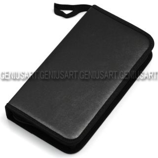 Black 80 Capacity Disc CD DVD Wallet Holder Storage Case Cover Organizer Bag Box