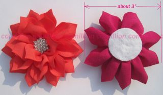 13 Lots Luxurious Rhinestones Hindu Lotus Flower for Headband Hair Bow Baby Girl
