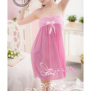 Sexy Black Lace Lingerie Babydoll Sheer Sleepwear Dress Nightwear G String S165