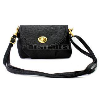 New Black Women's Cross Body Mini Messenger Bags Faux Leather Handbag Shoulder