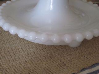 White Milk Glass Hobnail Lamp