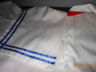 "Adult Sissy Baby Sailor Dress Handmade Sized to Fit C to 50"" Circular Nautical"