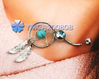 New Gem Crystal Dangle Navel Belly Button Ring Bar Body Art Piercing Gift Hot