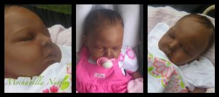 AA Ethnic Biracial Baby Toddler Girl Reborn Doll Cuddles Head Arianna Limbs