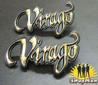 ★chrome Golden Gas Tank Decal Badge Emblem for Yamaha Virago Motorcycle Series★
