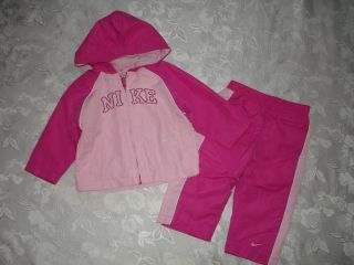 Baby Girls Nike Windbreaker Outfit Jacket Pants Sz 12 M