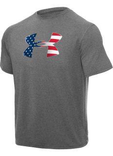 Men's Big Flag Logo Under Armour Tech Shortsleeve T Shirt