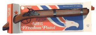 Civil War Frontier Replica Wood Metal Freedom Pistol Toy Cap Gun Flintlock