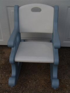 Little Tikes Blue Victorian Child Size Rocking Chair Great for Room or Play