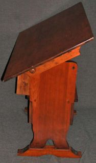 Mission Shaker Honey Pine Tilt Top Trestle Table Chair Bench Drawing Stand 36x24