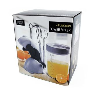 7pc One Touch 4 Function Power Mixer w Interchangeable Attachments