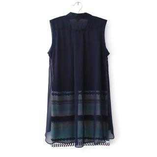 New Womens European Fashion Asymmetry Chiffon Sleeveless Sexy Vest Dress B2420