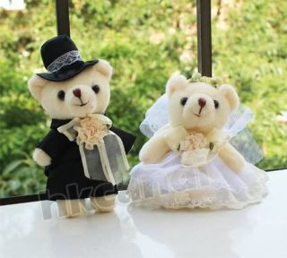 Love's Gifts Couple of White Wedding Teddy Bear Stuffed Animals Wedding Gifts