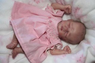 "Teenyweenycreations Presents Erin 7"" Micro Preemie Reborn Baby Doll Realistic"