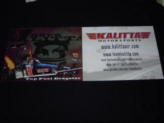 Kalitta Motorsports 2012 NHRA Nitro Top Fuel Dragster Driver Doug Kalitta Card