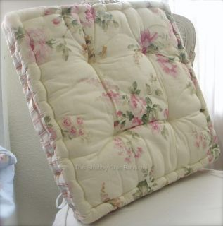 ... Dining Room Chair Pad Cushion Shabby Pink Roses Chic ...
