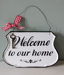 Sign Shabby Chic Sign Metal Plaque Message Hanging Sign Wall Decoration