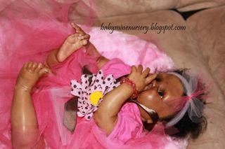 Babymine Nursery Joya Reborn Baby Doll Girl Biracial Lilly Kit Denise Pratt