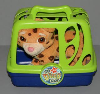 Nick Jr Go Diego Animal Rescuer Baby Jaguar Plush w Carrying Case Cage Mattel