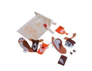 Little Experience Endangered Species Childrens Finger Puppets Craft Design Kits
