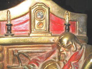 Antique Armor Bronze Man Dog Art Fireplace Sculpture Chair Statue Desk Bookends