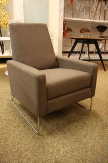 Flight Recliner Divina Melange Fabric Theater Chair DWR Design Within Reach