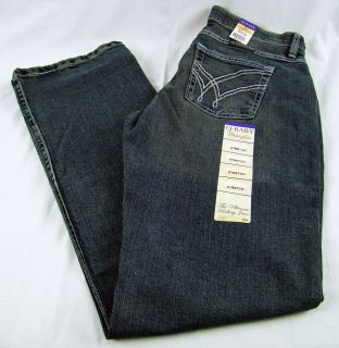 Womens Wrangler Q Baby WRQ20AU Boot Cut Mid Rise Stretch Jeans Size 7 8 x 34